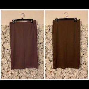 Two Forever 21 Pencil Skirts